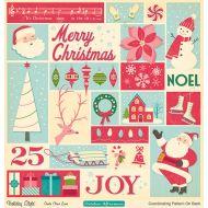 Бумага Santa Claus Lane, коллекция Holiday style