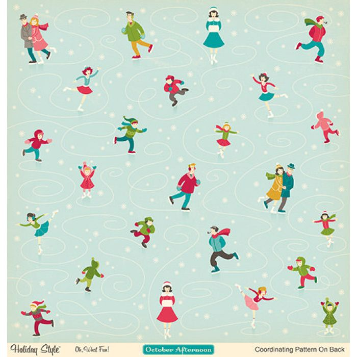 Бумага Oh, What Fun!, коллекция Holiday style для скрапбукинга