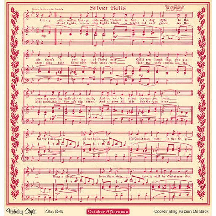 Бумага Silver Bells, коллекция Holiday style для скрапбукинга