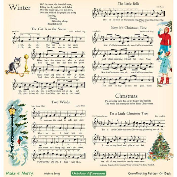 Бумага Make a Song, коллекция Make it Merry для скрапбукинга
