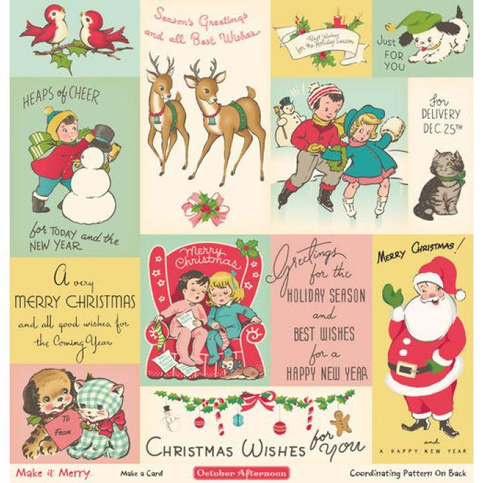 Бумага Make a Card, коллекция Make it Merry для скрапбукинга