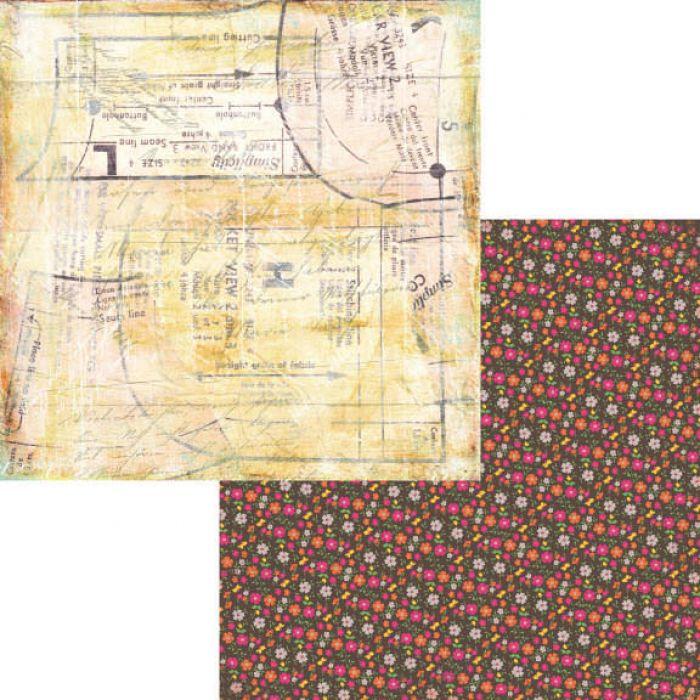 Бумага Seamstress, коллекция Hopscotch для скрапбукинга