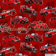 Отрез ткани 1, коллекция Пожарные машины