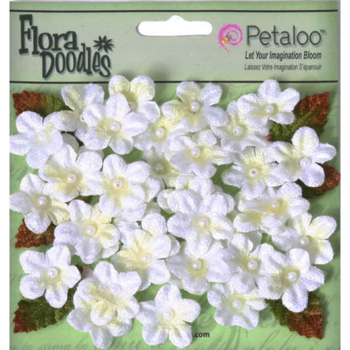 Набор цветов Белые для скрапбукинга