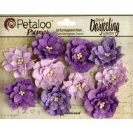 Набор цветов Георгины фиолетовые