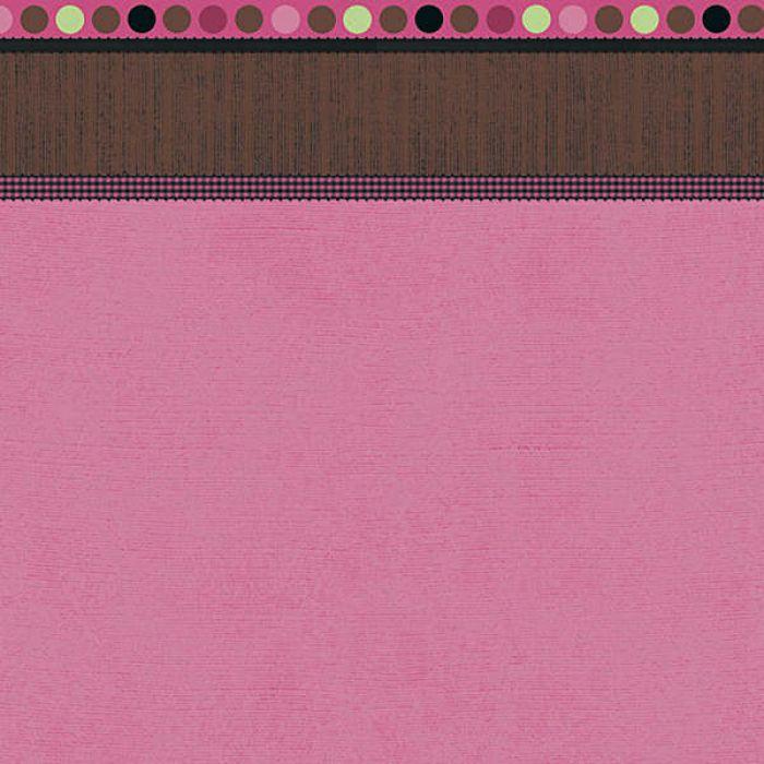 """Бумага  """"Pink Linen with Border"""" для скрапбукинга"""