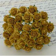 Розы цвета старого золота 10 мм