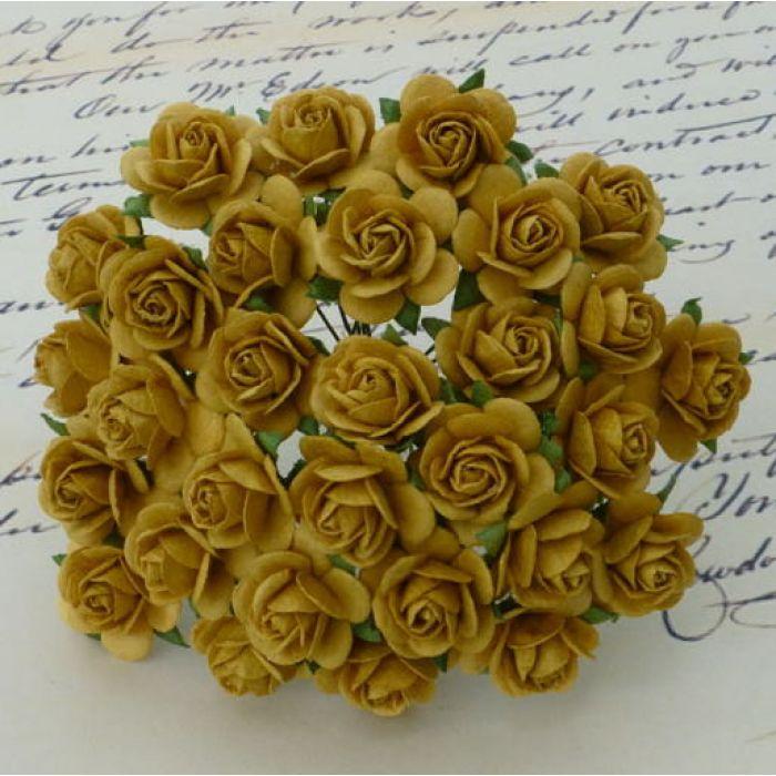 Розы цвета старого золота 10 мм для скрапбукинга
