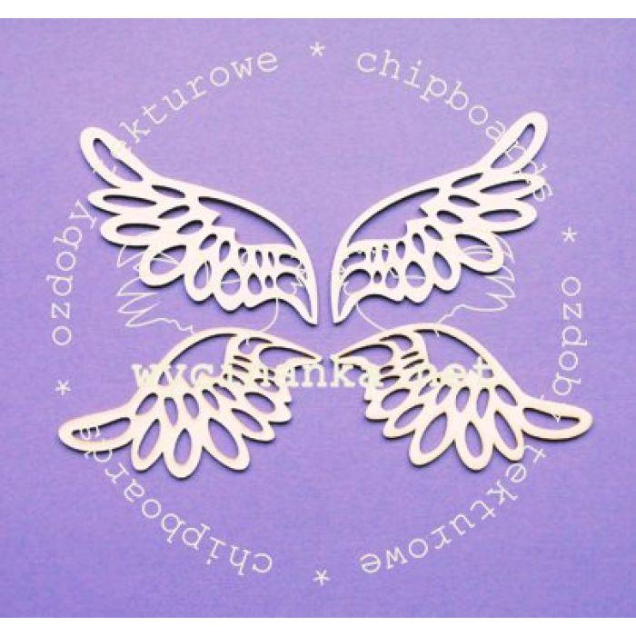 Чипборд Ажурные крылья, две пары для скрапбукинга