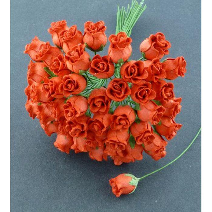 Бутоны роз красные для скрапбукинга
