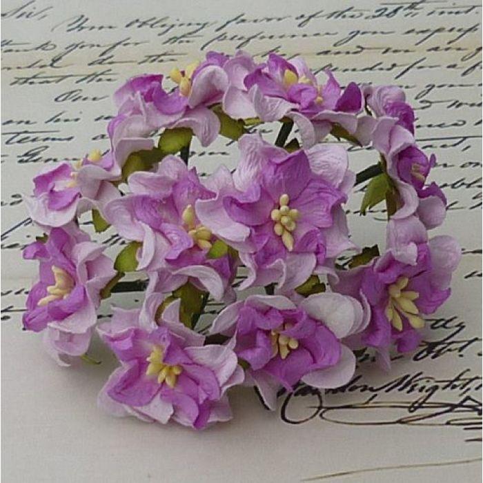 Цветы гардении сиренево-фиолетового цвета для скрапбукинга