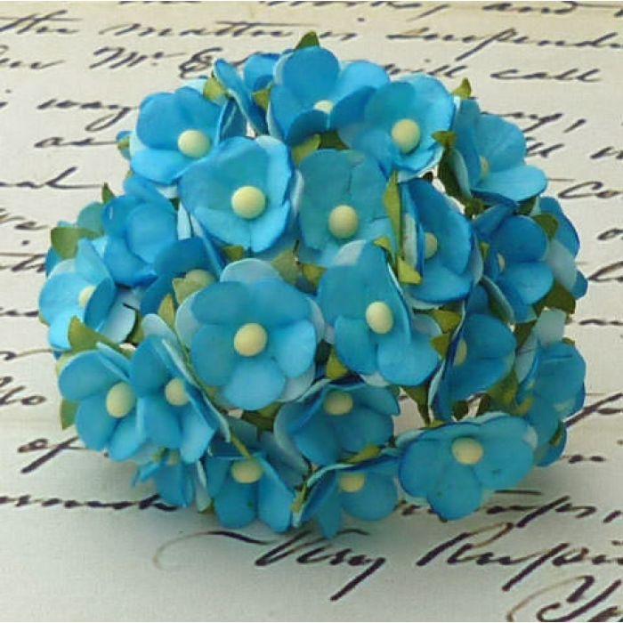 Цветы бирюзового цвета для скрапбукинга