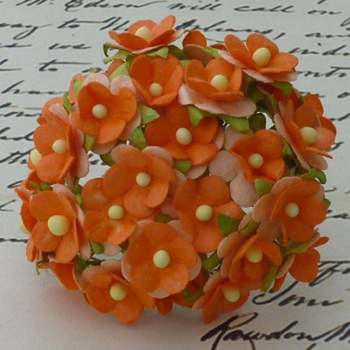 Цветы оранжевого цвета для скрапбукинга
