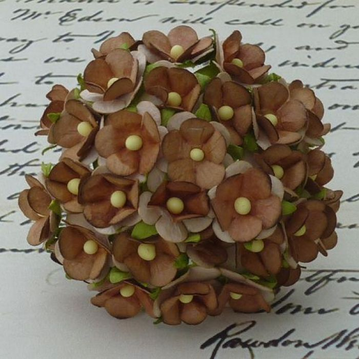 Цветы коричневого цвета для скрапбукинга