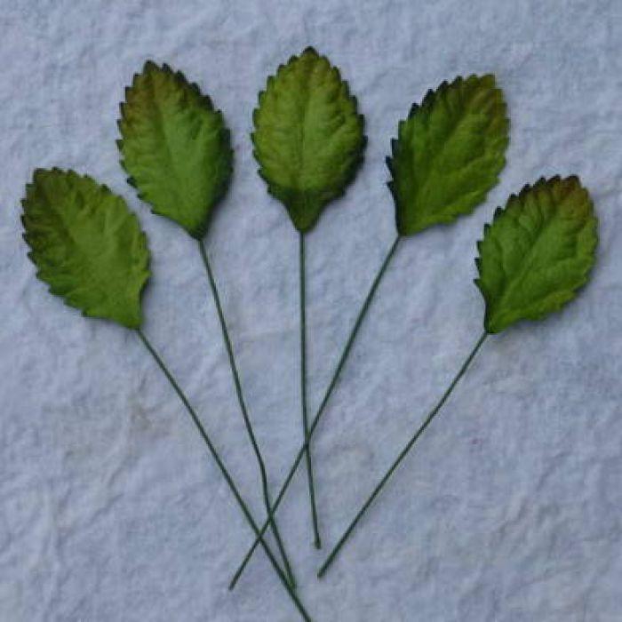 Листья зеленые, 30 мм для скрапбукинга