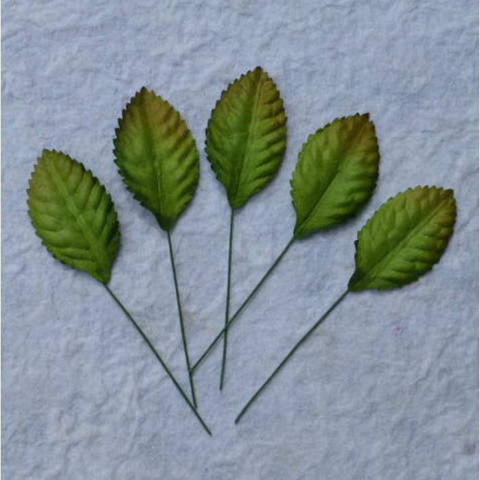 Листья зеленые, 35 мм для скрапбукинга