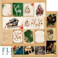 Бумага карточки из коллекции ожидание праздника
