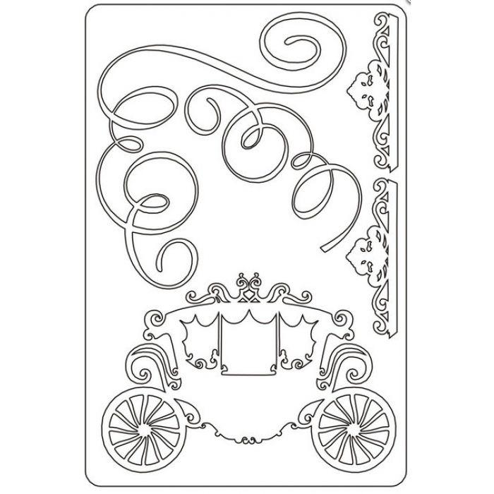 Набор чипборда №6, коллекция Королевский бал для скрапбукинга