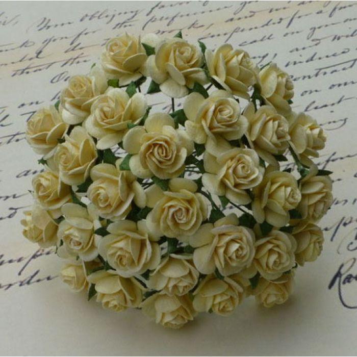 Розы кремовые, 20 мм для скрапбукинга