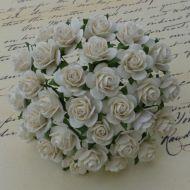 Розы цвета слоновой кости, 10 мм