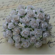 Розы белые, 10 мм