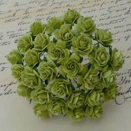Розы светло-лаймовые, 25 мм