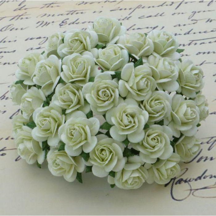 Розы мятно-зеленые, 25 мм для скрапбукинга