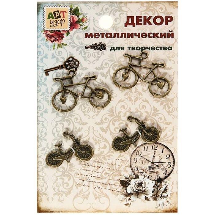 """Металлическое украшение """"Велосипед"""" для скрапбукинга"""