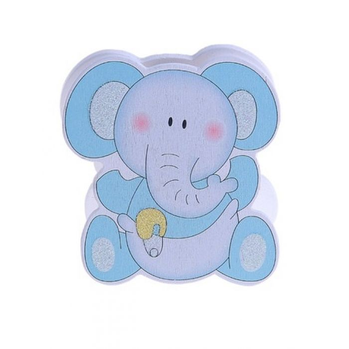 """Прищепка """"Слоненок"""" голубой для скрапбукинга"""