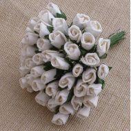 Бутоны роз белые, 6 мм