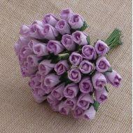 Бутоны роз лиловые, 8 мм