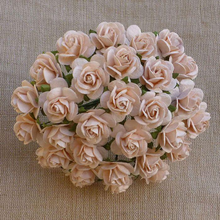 Розы бледно-персиковые, 25 мм для скрапбукинга