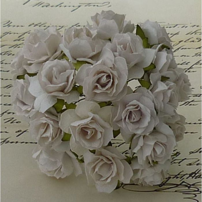 Роза дикая белая, 30 мм для скрапбукинга
