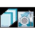 Набор бумаги Зимние синие снежинки, А5 для скрапбукинга