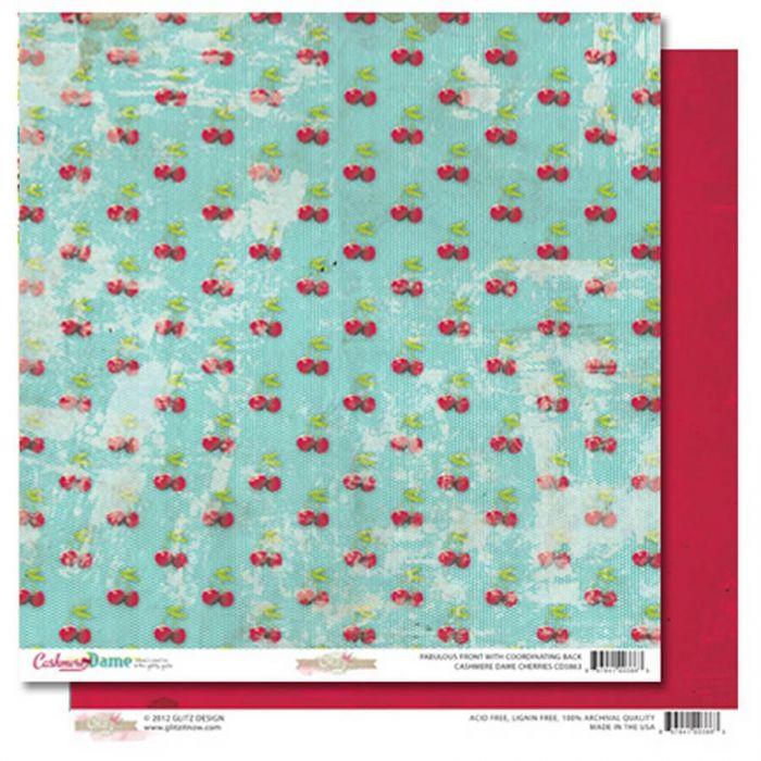 Бумага cherries, коллекция Cashmere dame для скрапбукинга