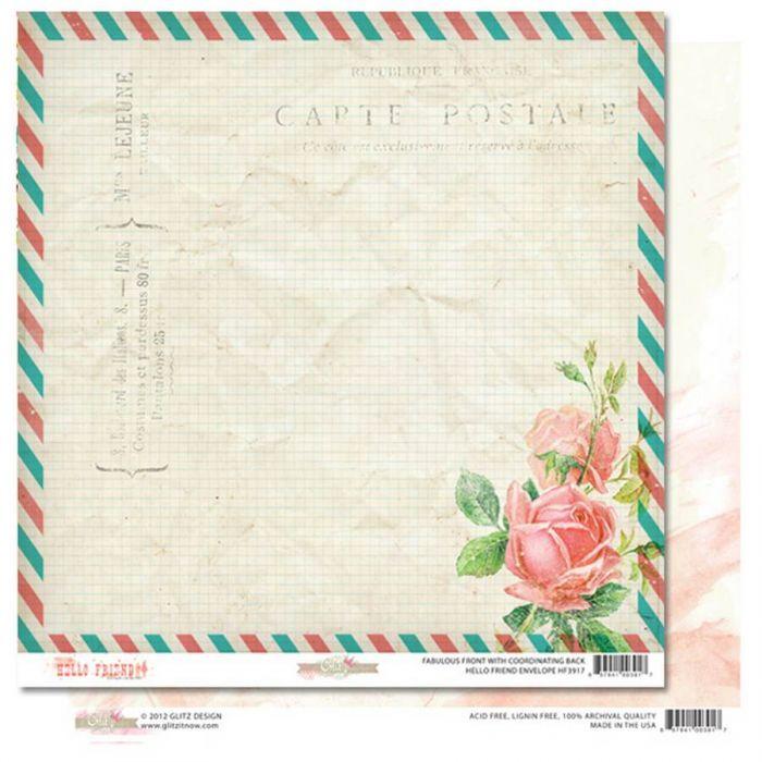 Бумага Envelope, коллекция Hello Friend для скрапбукинга
