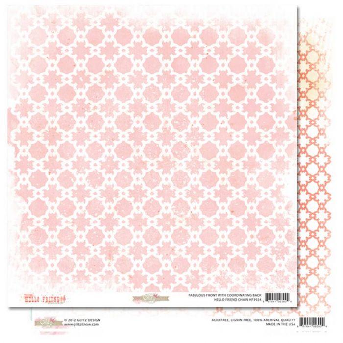 Бумага Chain, коллекция Hello Friend для скрапбукинга