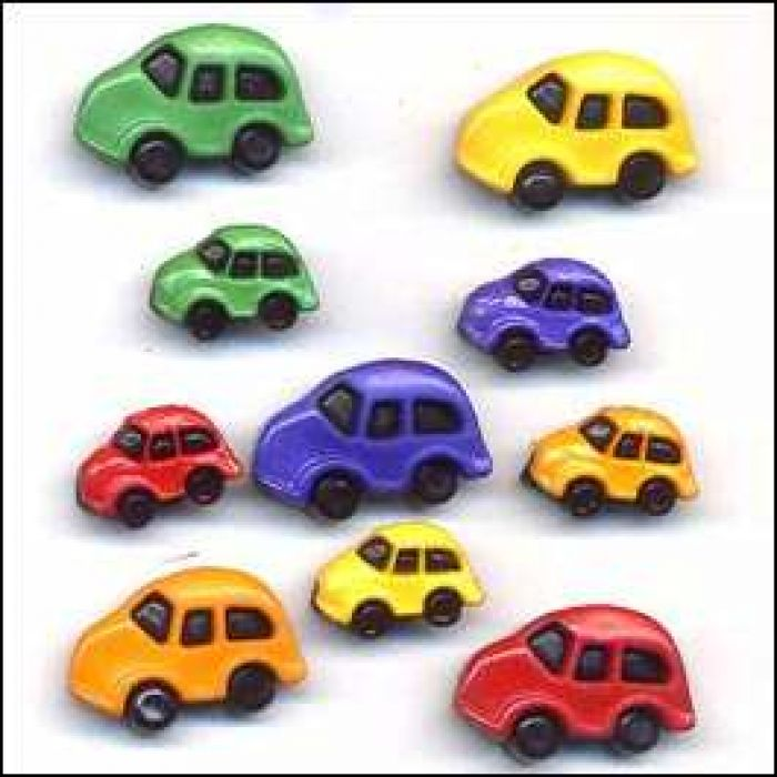 Набор пуговиц Cars для скрапбукинга
