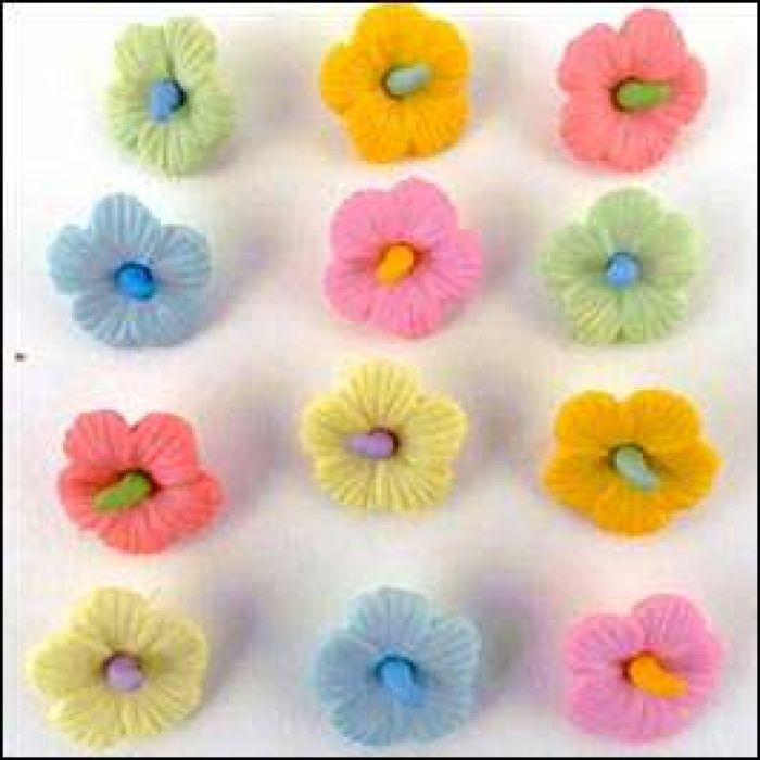 Набор пуговиц Hawaiian Flowers  для скрапбукинга