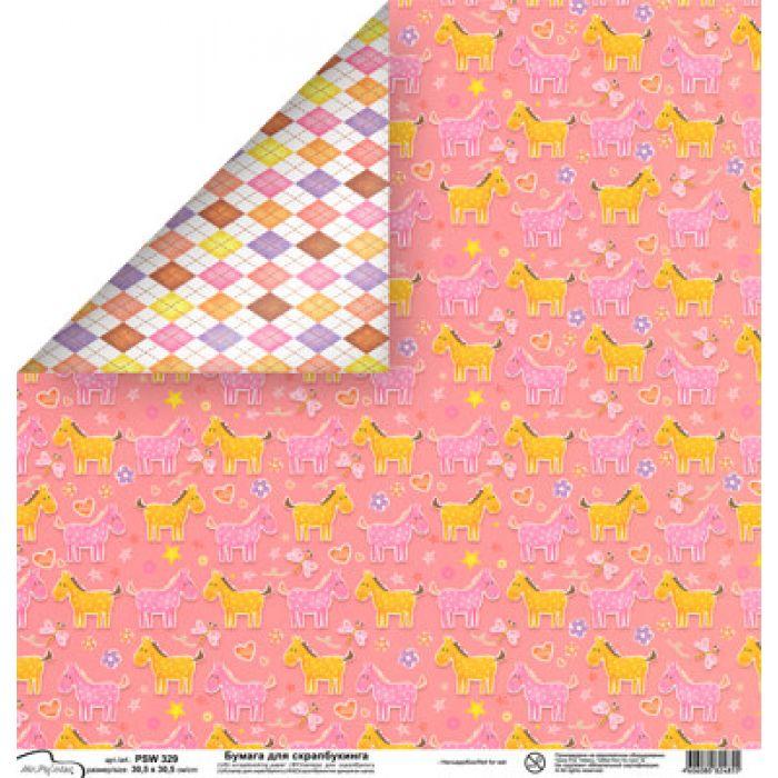 Бумага 329, коллекция Baby girl для скрапбукинга