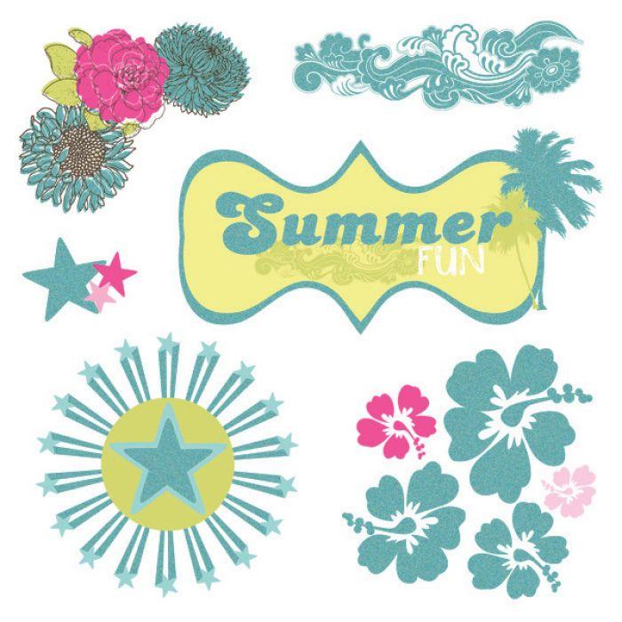 Вырубка из оверлея, коллекция Summer Soul для скрапбукинга