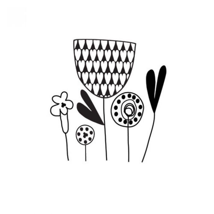 Штамп силиконовый Mixed Flowers, коллекция Be You для скрапбукинга