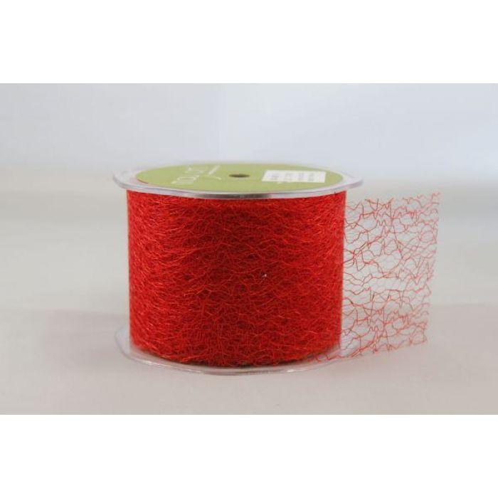 Лента-сетка красная для скрапбукинга