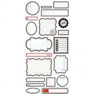 "Наклейки ""Labels"", коллекция Basic White"