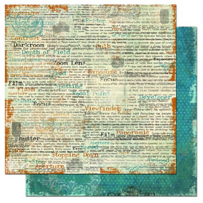 Бумага Tabloid, коллекция Mama-Razzi для скрапбукинга