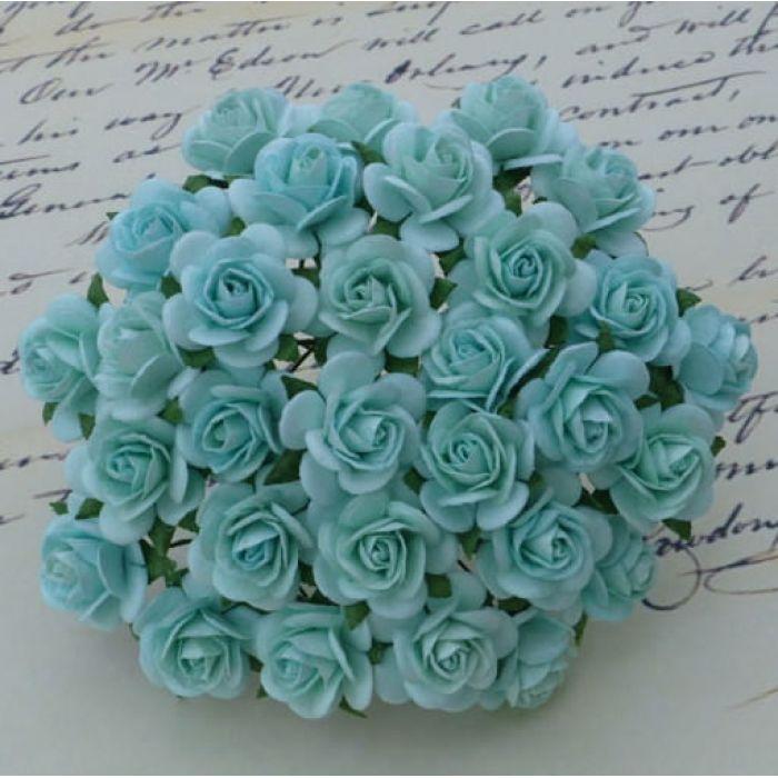 Розы пастельного зеленого цвета, 10 мм для скрапбукинга