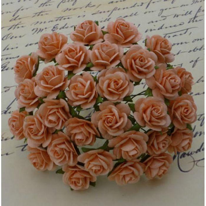 Розы персиковые, 10 мм для скрапбукинга