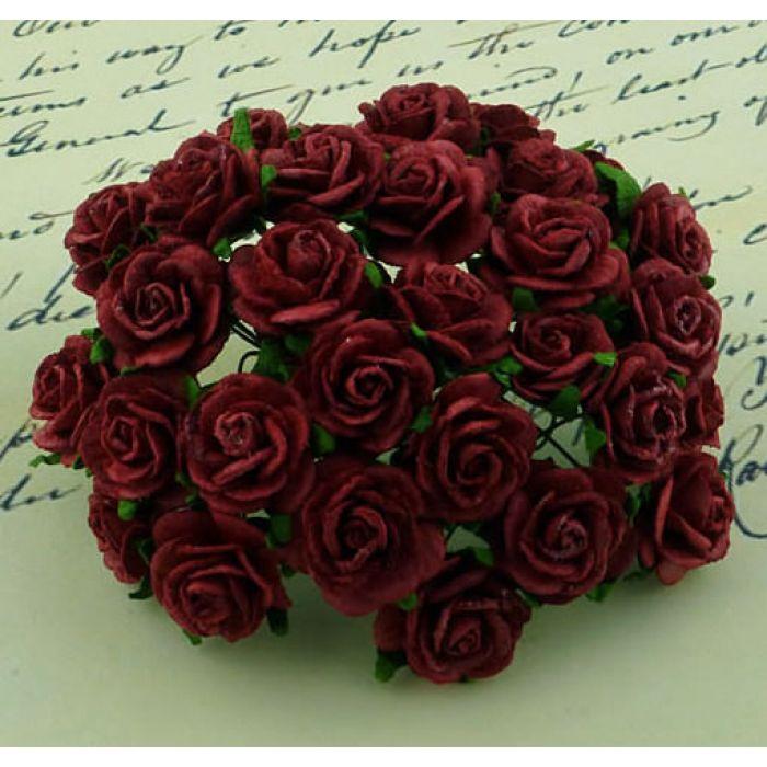 Розы алые, 10 мм для скрапбукинга