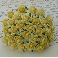 Розы нежно-желтые, 10 мм