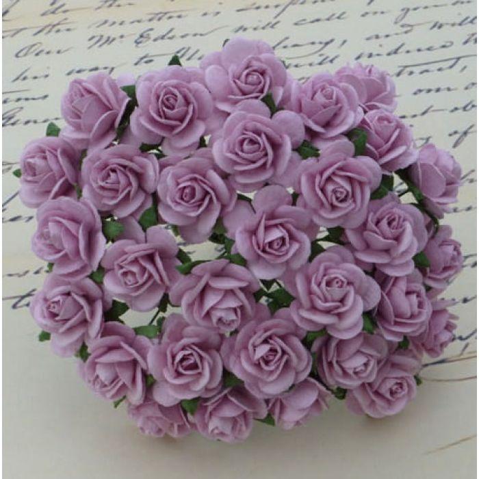 Розы сиреневые, 10 мм для скрапбукинга